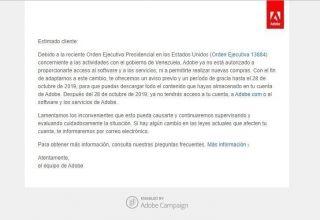 Adobe sin servicio en Venezuela