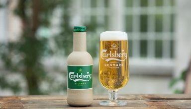 botella de fibra verde